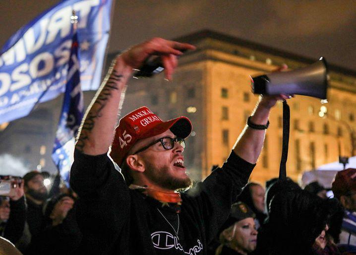 Wütend bis zum Schluss: Trump-Anhänger in Washington