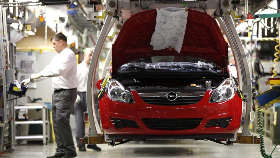 Opel Corsa im Werk Eisenach: Die Zukunft der Fertigungsstätte hängt nun am neuen Kleinwagen Adam