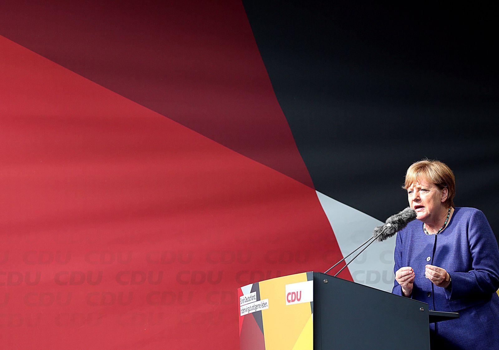 Angela Merkel - Wahlkampfauftritt in Siegen