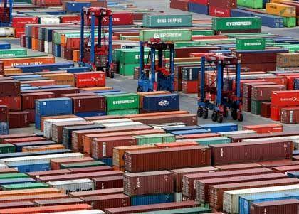 Voll oder leer? Der deutsche Export geht wieder zurück
