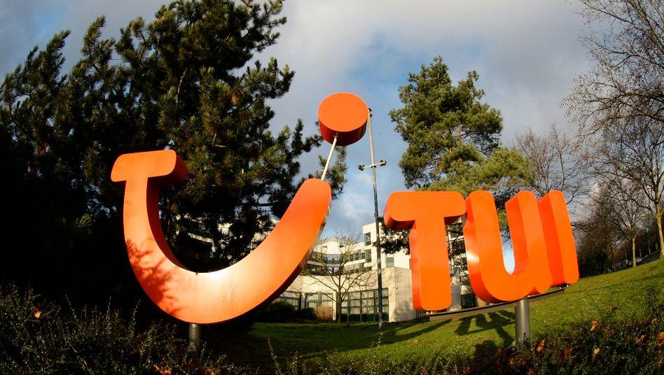 Tui-Logo in Hannover: Grund zum Lächeln