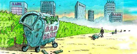 Der Giftmüll soll weg: Wie die Banken ihren faulen Papiere aus den Bilanzen entfernen können, darüber gibt es unterschiedliche Vorstellungen. Jetzt legen die Institute ein neues Konzept vor.