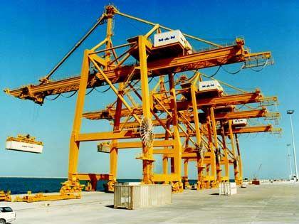 Container-Krane: 1976 ausgeliefert von GHH Sterkrade