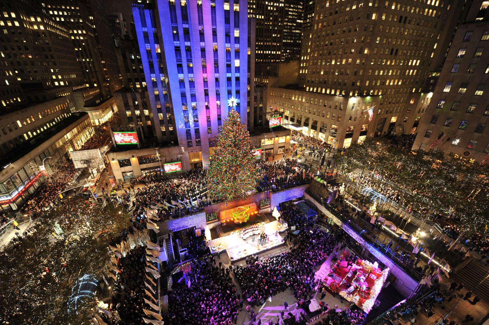 Weihnachtsbaum / Christbaum am Rockefeller Center / Weihnachsbeleuchtung / New York