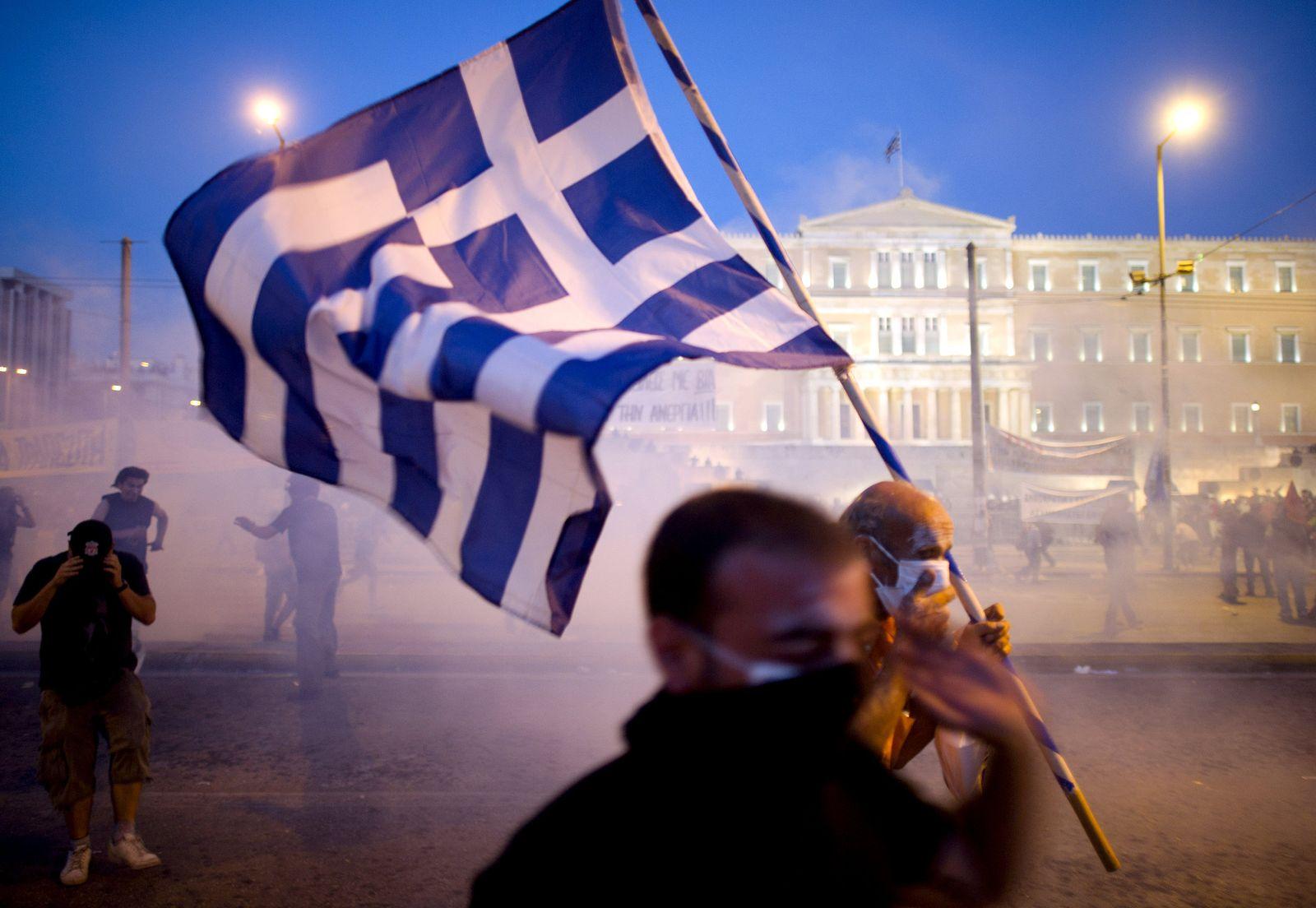 Proteste in Athen / Demonstrant / Gewalt / Ausschreitung / Griechenland