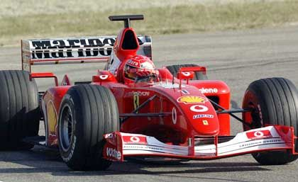 Weltmeister Schumacher ist das Zugpferd im Ferrari-Rennstall.