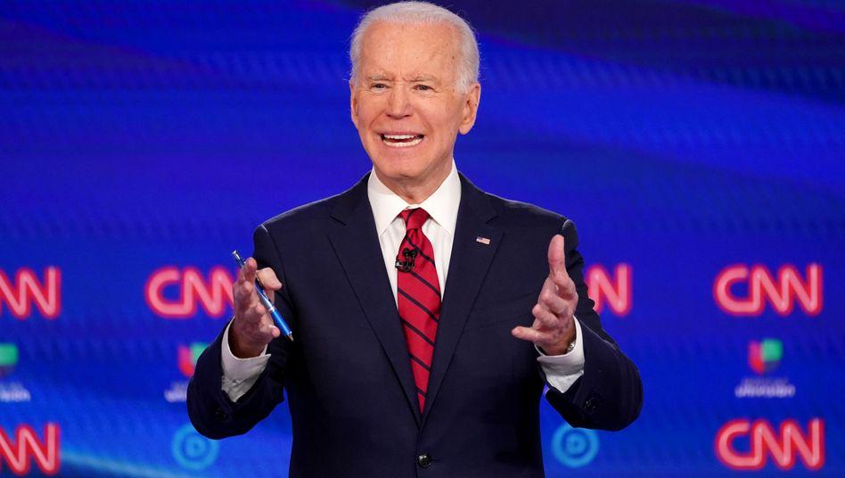 """Joe Biden: """"Heute haben wir die 1991 Delegiertenstimmen gesichert, die wir brauchen, um die demokratische Nominierung zu bekommen"""""""