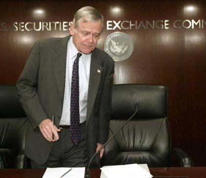 Besorgt: US-Börsenaufseher William Donaldson ...
