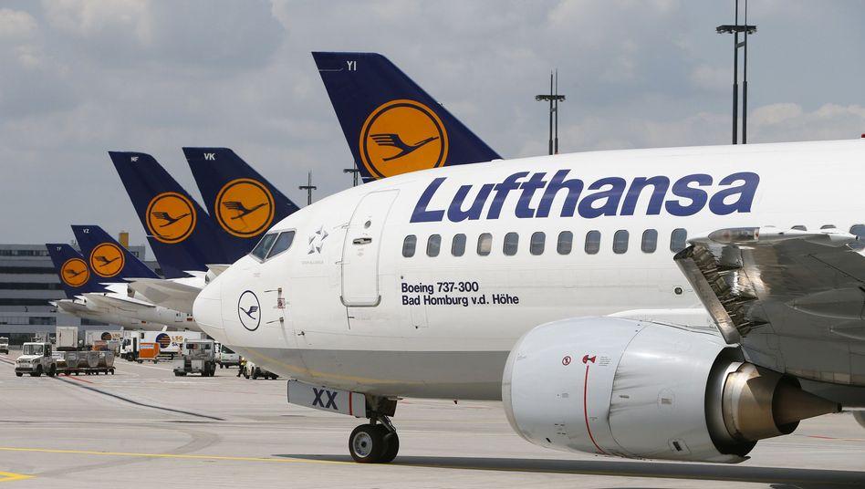 Lufthansa-Maschinen: Etliche von ihnen könnten von Mittwoch bis Freitag am Boden bleiben