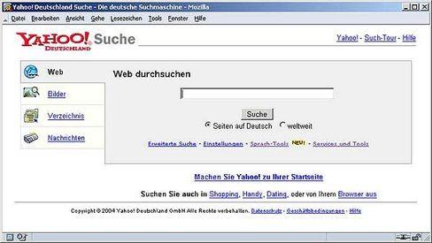 Nummer drei: Yahoo-Suche