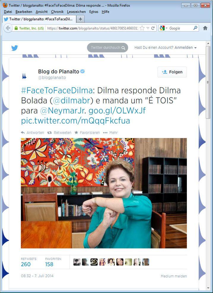 Dilma Rousseff gibt sich kämpferisch