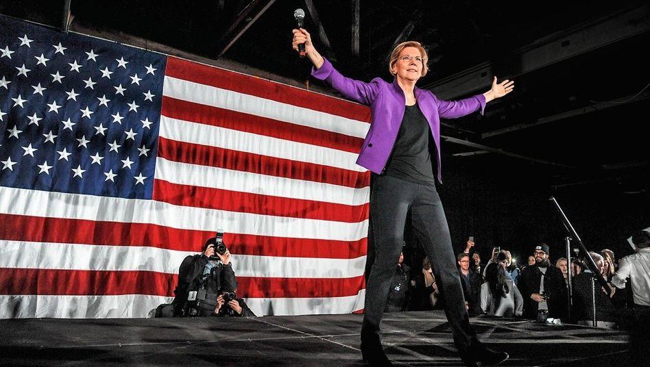 AUFRÄUMERIN Präsidentschaftskandidatin Elizabeth Warren passt in Stiglitz' neues Kapitalistenschema