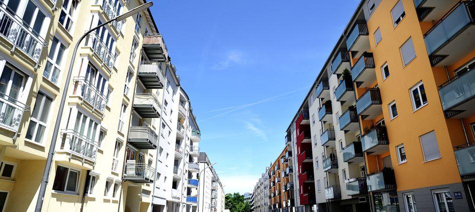 Häuserzeile in München: Nicht nur der deutsche Immobilienmarkt ist überhitzt