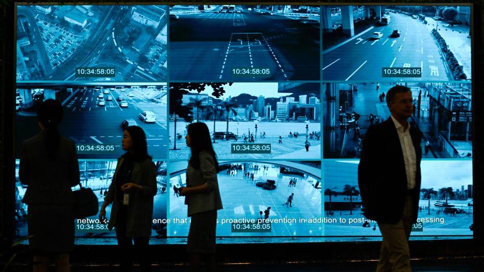 Hightech made in China: Ein Huawei-Showroom in Shenzhen.
