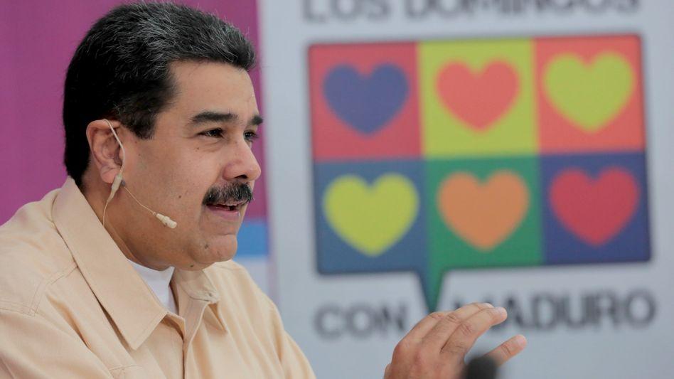 """Kryptogeld-Fan: Venezuelas umstrittener Präsident Nicolas Maduro will mit der neuen, auf Öl gestützten Digitalwährung """"Petro"""" die schwere Wirtschaftskrise des Landes besiegen"""