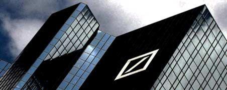 Hoch hinaus: Die Deutsche Bank hat im ersten Quartal einen Gewinn weit über den Erwartungen des Marktes erzielt.