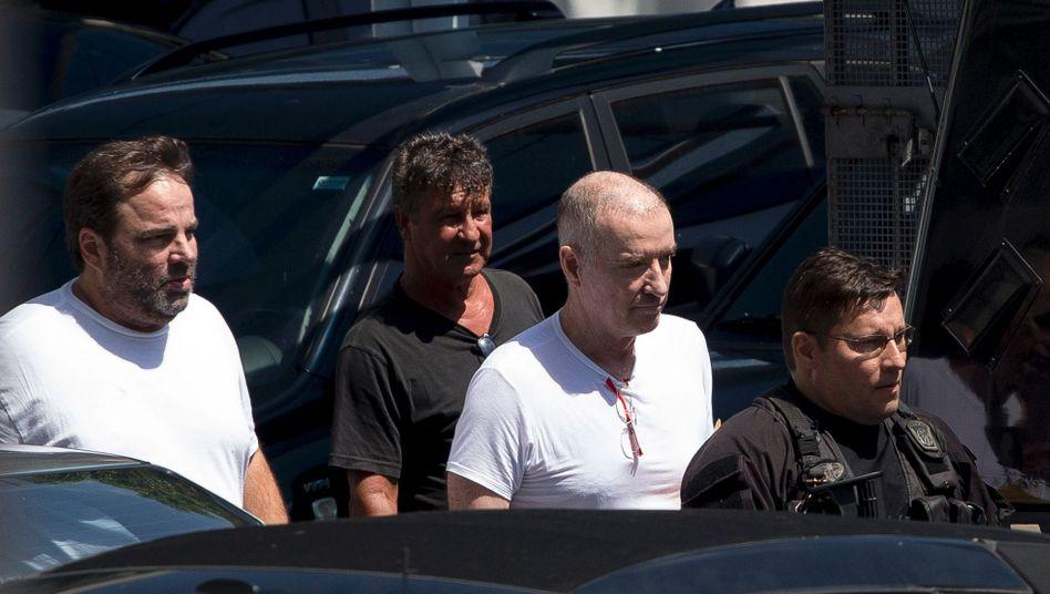 Eike Batista (zweiter von rechts) bei seiner Verhaftung 2017