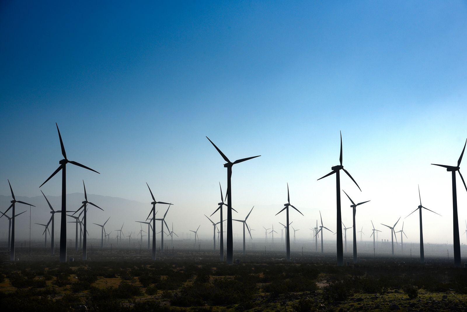 San Gorgonio Pass Wind Farm in Palm Springs, California
