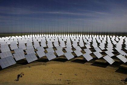 Rechnungen werden allmählich bezahlt: Sonnenkraftwerk in Spanien