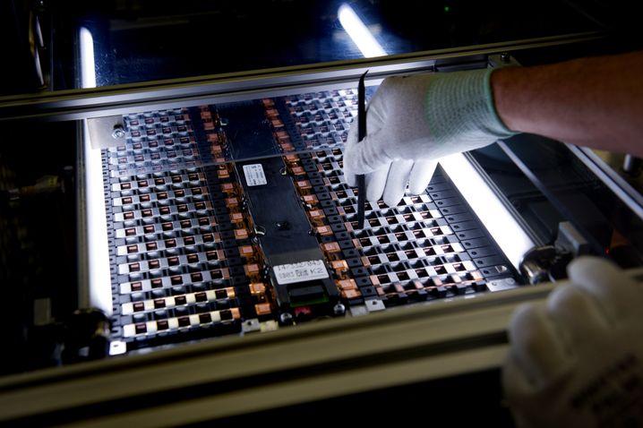 Batteriezellen-Test im sächsischen Kamenz