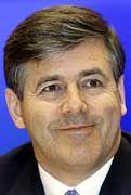 Schweigsam: Josef Ackermann, künftiger Chef der Deutschen Bank, behält seine Pläne für sich