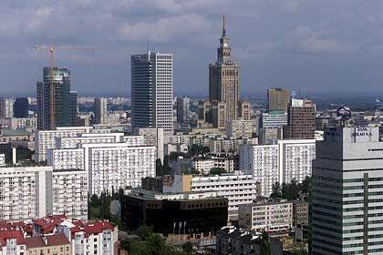 Beeindruckende Kulisse: Doch in Warschau und anderen osteuropäischen Metropolen regiert die Krise