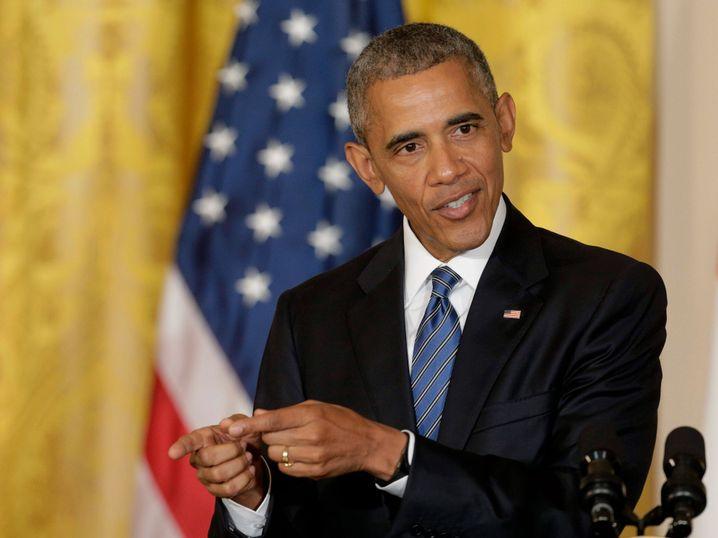 U.S-Präsident Barack Obama: Keilt gegen Donald Trump aus