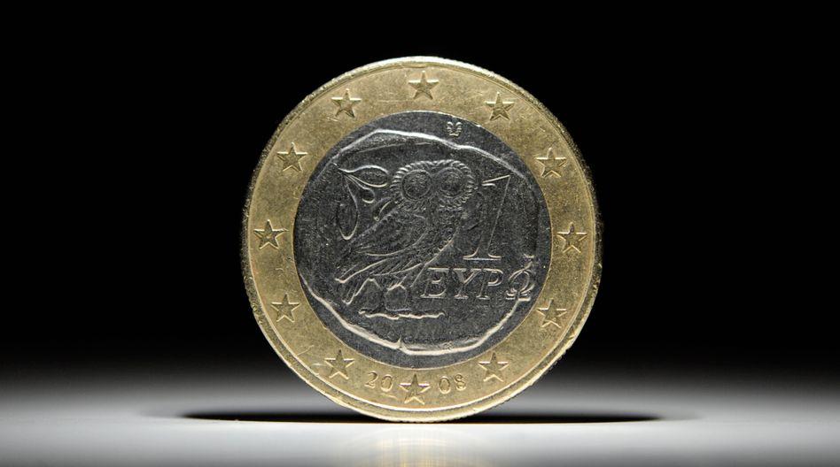 Griechische Euro-Münze: Aktien mit Kurschancen trotz gesamtwirtschaftlich verhaltenen Perspektiven