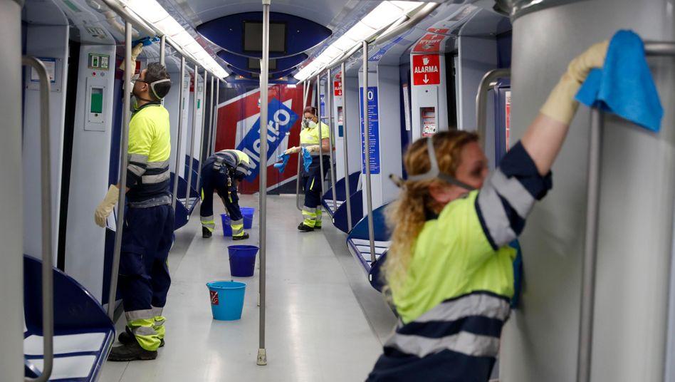 Metro in Madrid: Spanien ist vollständig unter Quarantäne gestellt