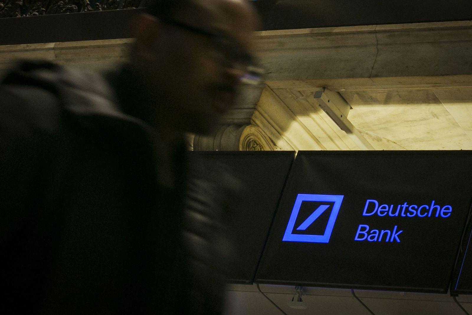 Deutsche Bank Logo in den USA, New York