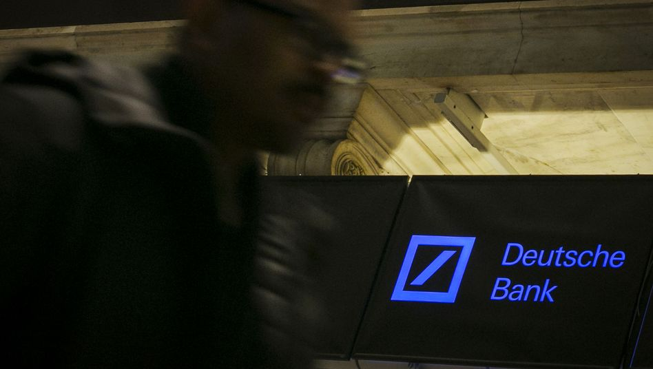 Deutsche-Bank-Logo an der New Yorker Börse