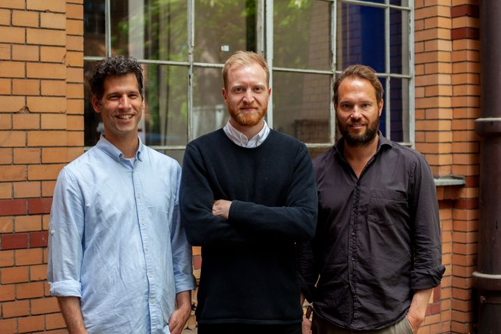 Vehiculum-Gründertrio: Guy Moller (links), Lukas Steinhilber (Mitte), Melchior Bauer (rechts)