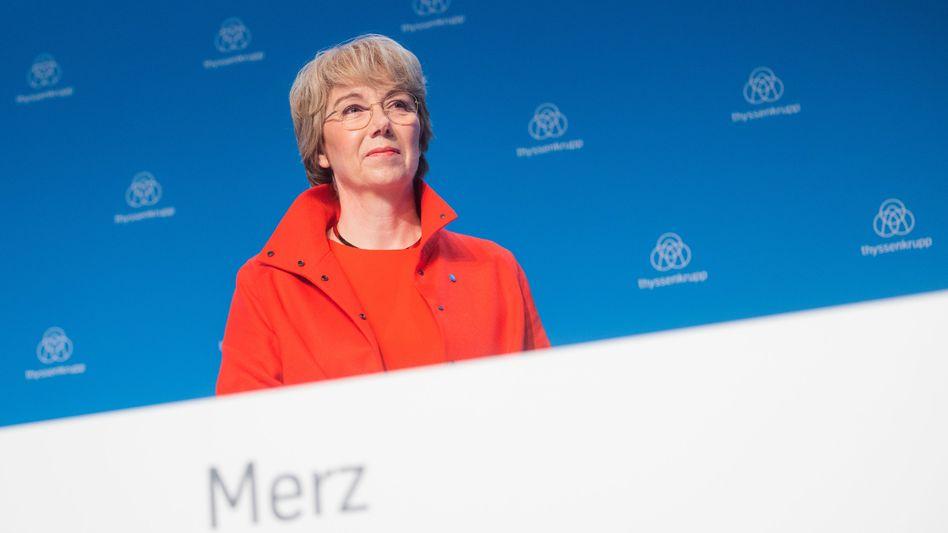 """""""Das Umfeld bleibt herausfordernd"""": Thyssenkrupp-Chefin Martina Merz zu den aktuellen Quartalszahlen"""