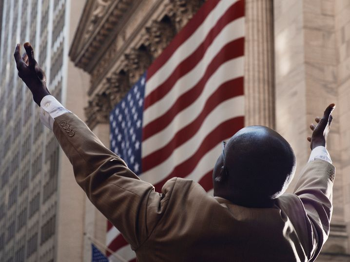 Mann an der Wall Street