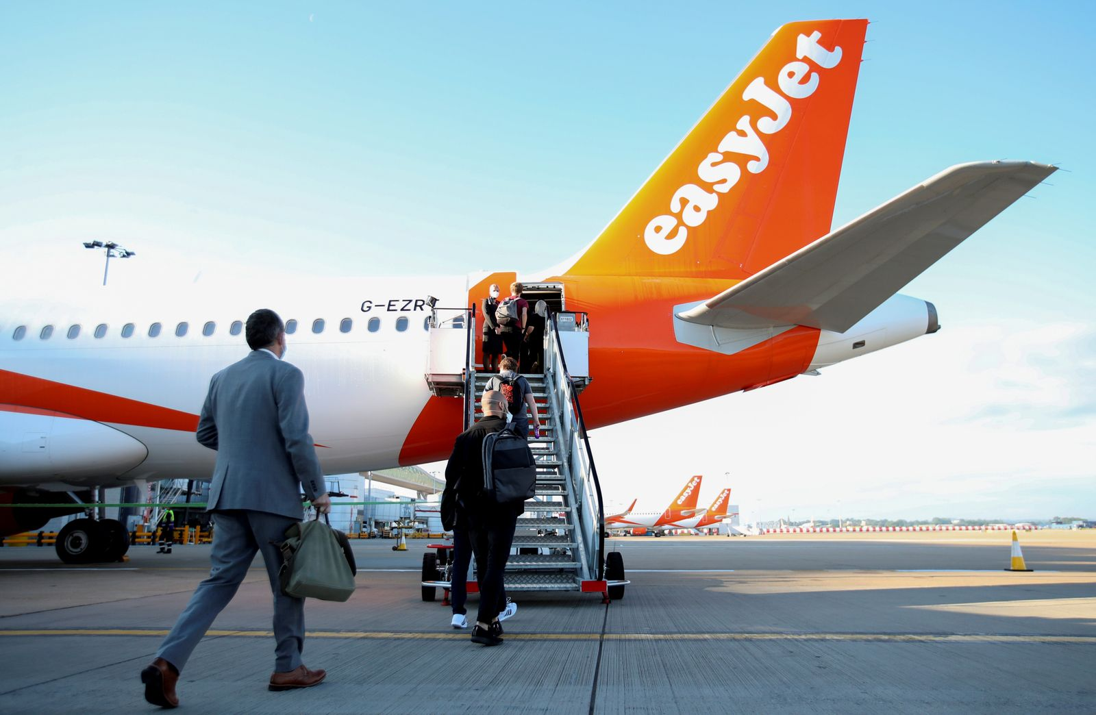 FILE PHOTO: EasyJet restarts its operations amid the coronavirus disease (COVID-19) outbreak at Gatwick Airport, in Gatwick