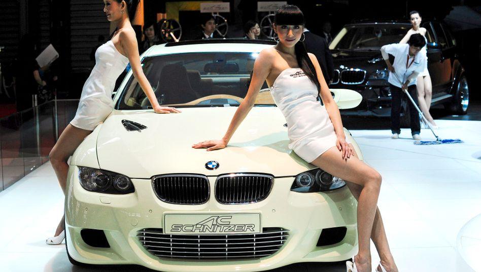 BMW-Präsentation auf der Automesse in Shanghai: Die deutschen Hersteller sind in Asien gefragt