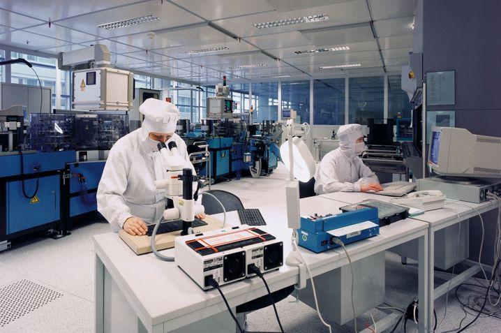 Dax-Konzerne / Infineon / Produktion / Dresden / Labor Bild: PR / Infineon