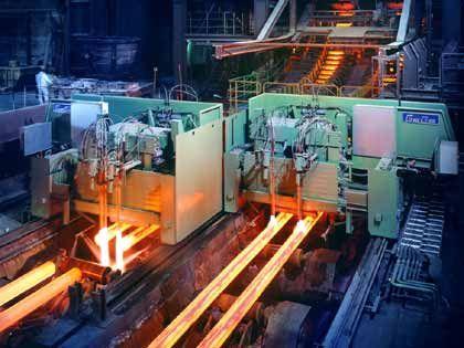 Eine der vielen Produktionsstätten von Benteler: Das Elektrostahlwerk Lingen/Ems
