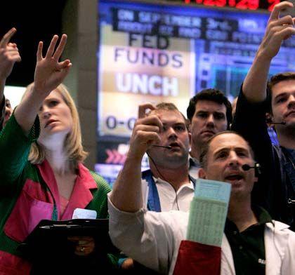Blick nach oben: Der Dow Jones nimmt Kurs auf die 10.000-Punkte-Marke