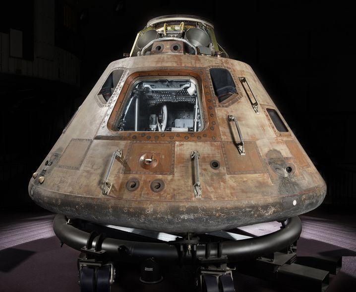 """Immer noch auf großer Reise: Die Raumkapsel """"Columbia"""" der Apollo-11-Astronauten tourt seit 2017 durch die USA und ist bis Anfang September 2019 im Museum of Flight in Seattle zu sehen."""