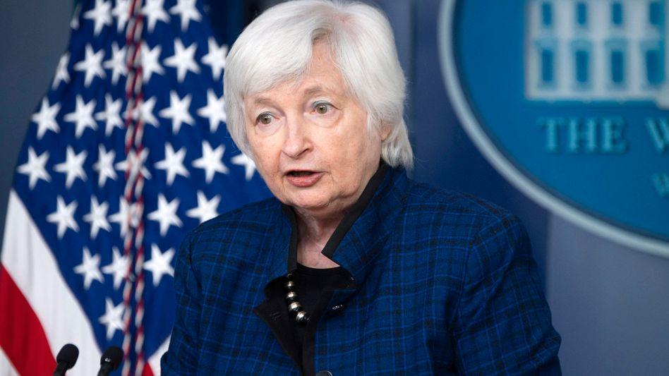 """US-Finanzministerin Janet Yellen: """"Seit etwa einem Jahrhundert ist die Kreditwürdigkeit Amerikas ein großer Vorteil"""""""
