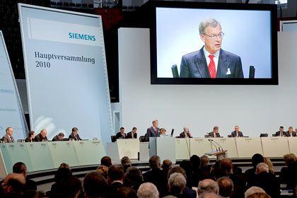 """Siemens-Hauptversammlung: """"Die Wunden müssen jetzt heilen"""""""