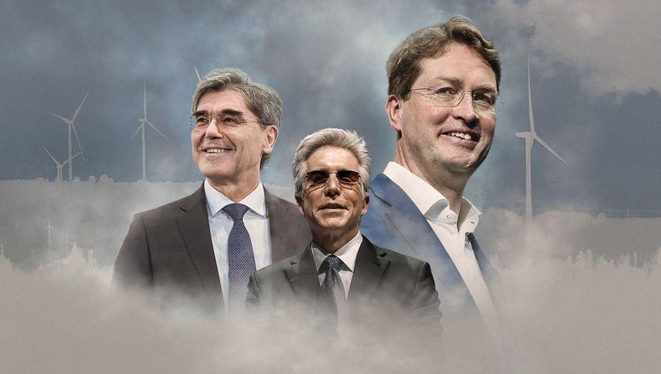 2030, 2025, 2039: Die CEOs Kaeser, McDermott und Källenius und ihre Klimaversprechen.
