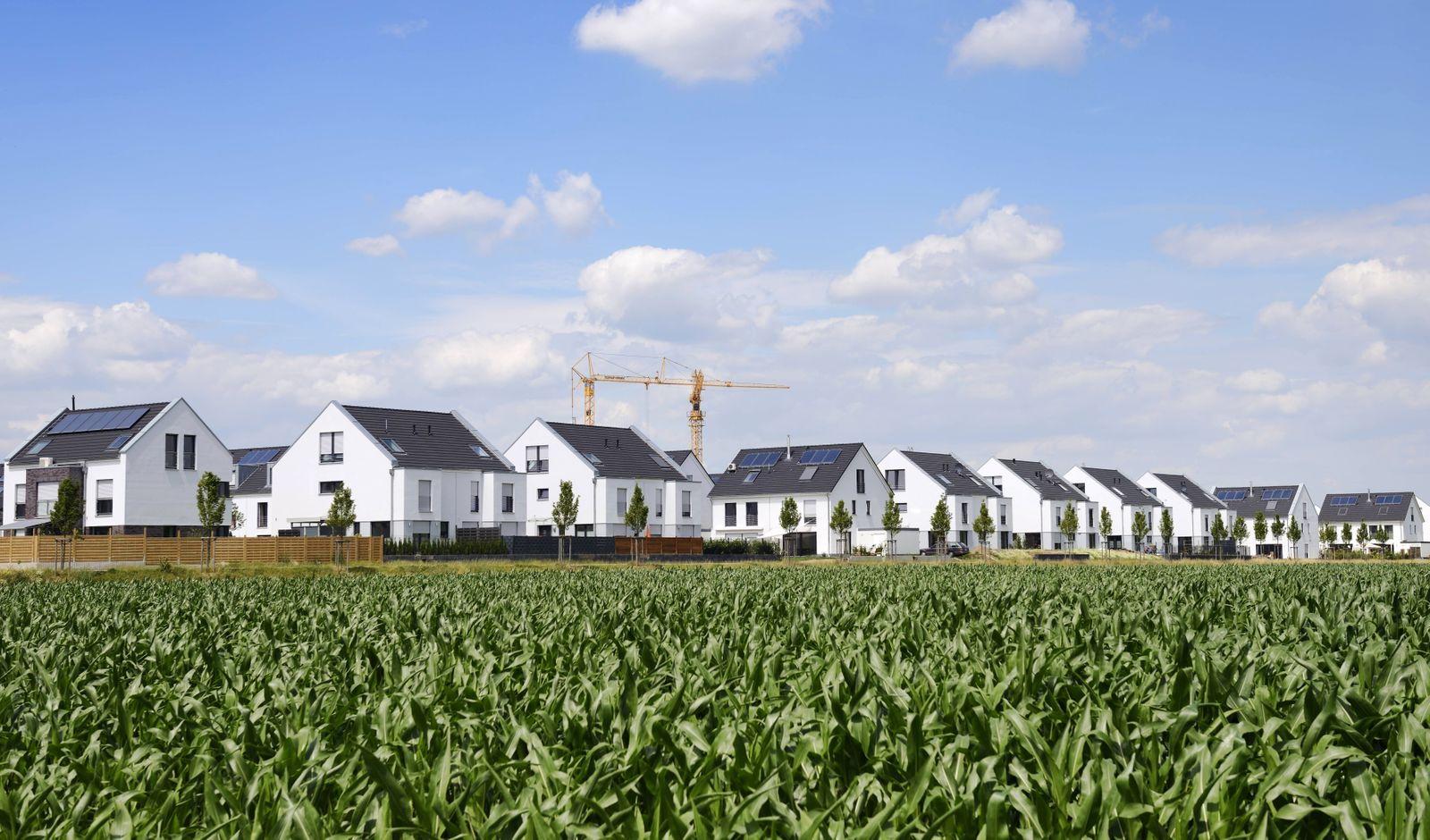 Germany Duesseldorf development area with one family houses and twin houses PUBLICATIONxINxGERxSUI