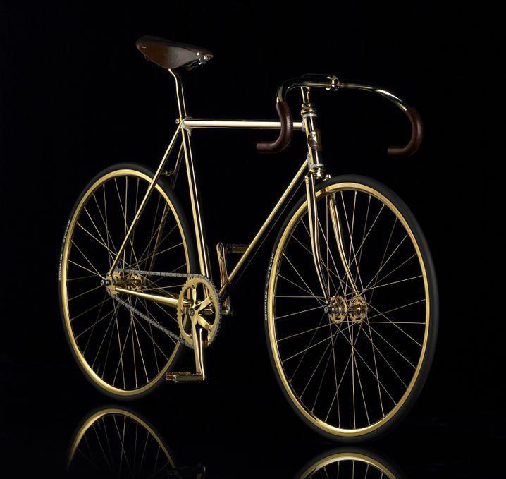 Reichtum auf Rädern: Das Goldfahrrad von Aurumania gibt es ab ungefähr 21.000 Euro...