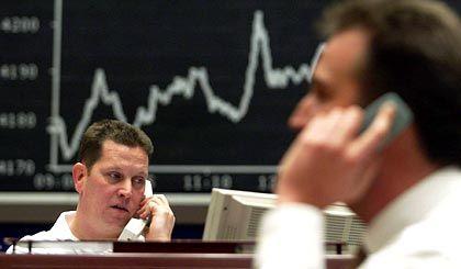 Grund für gemäßigten Optimismus: Händler an der Frankfurter Börse