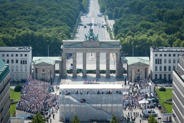 Auch im Ausland beliebt: Die Bundeshauptstadt Berlin (hier beim Besuch von US-Präsident Barack Obama im Juni)