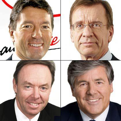 Internationale Dax-Vorstände: Kasper Rorsted, Håkan Samuelsson, Ian Robertson und Josef Ackermann (von links oben nach rechts unten)