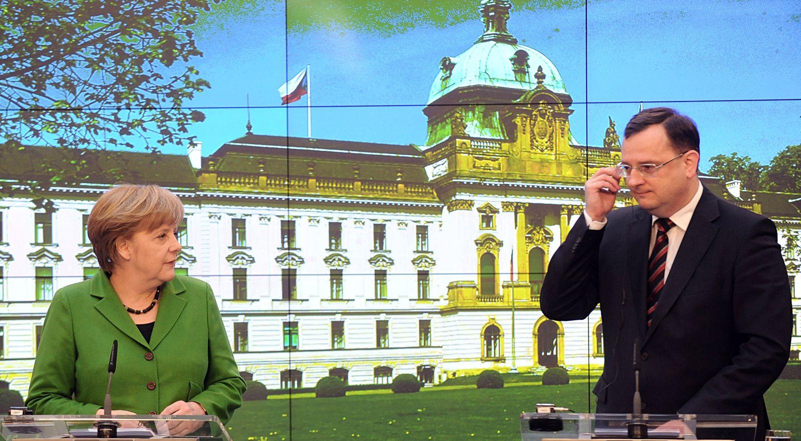 Angela Merkel / Prag / Petr Necas