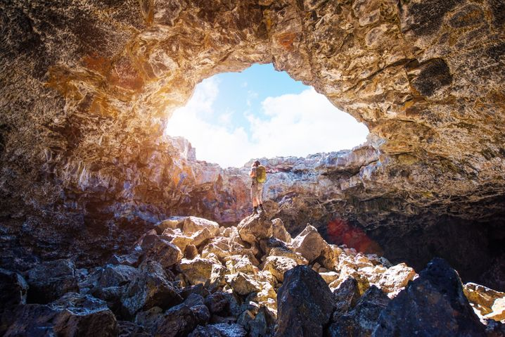 Unterwegs in der Einsamkeit: Im Craters of the Moon National Monument fühlen sich Besucher manchmal wie auf einem anderen Stern - nur dass sie keinen Raumanzug dabei tragen müssen.